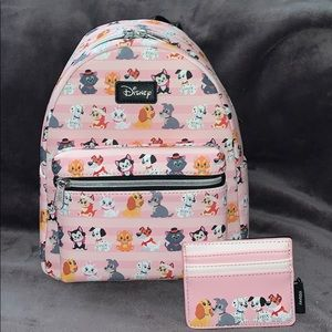 Disney's Pets Loungefly backpack and cardh…